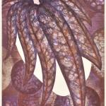 鈴木 誠一/SUZUKI seiichi:蓑椰子 62×43 木版・コラグラフ