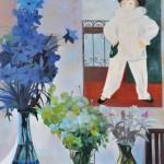 吉沢 陽子/YOSHIZAWA yoko:ポスターのある部屋 F100 油彩