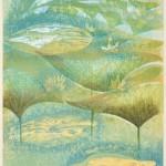 北田 友美子/KITADA yumiko:水ぬるむ |45×35.5 木版