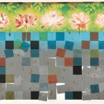 安部 一博/ABE kazuhiro :蓮の沼 46.5×60.5 リトグラフ