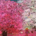 岩渕ケイ子/IWABUCHI keiko:咲く花の中に F30 油彩