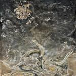 今尾 さち子/IMAO sachiko:記憶の残滓 160×111.5 水彩・ミクストメディア