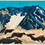 細田 敏彦/HOSODA toshihiko:初冬の立山 45×60 木版