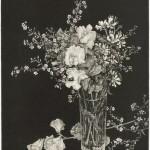 丹阿弥 丹波子/TANAMI niwako:花・春 36.5×30 銅版