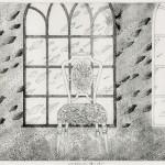 大口 淑美/OGUCHI kiyomi:この手のひらに降り注ぐⅢ 30.5×49.5 銅版