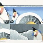 アイトヨハネス/EIDT Johannes:明日にむけて 45×55 平版・シルクスクリーン