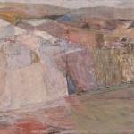 三島 耕二/MISHIMA koji:石見海端(波根) 79×145 油彩