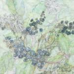 菅野 昌子/KANNO masako:丘の小径の草-晩秋 103×145.6 水彩・鉛筆