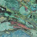 片桐 アキラ/KATAGIRI akira:四【よ】次【じ】元【げん】時【じ】空【くう】のく【、】ず【、】れ【、】ゆ【、】く【、】風【ふう】景【けい】 F60 水彩・ミクストメディア