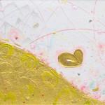 横山 千晶/YOKOYAMA chiaki:丘 |90×180 油彩・アクリル・コンテ・箔・鉛・えんぴつ