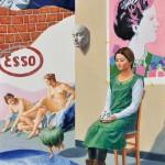 安田 克己/YASUDA katsumi:サイを振る女性 |F80 油彩