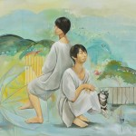 安田 祐子/YASUDA yuko:雨があがるまで |F130 油彩