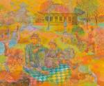 西濃俊明/NISHINO toshiaki : 奈良の風景 F130 油彩