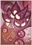 鈴木誠一/SUZUKI seiichi : 零れる 62×43 木版・コラグラフ