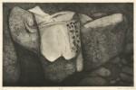 松田洋子/MATSUDA yoko : 砂岩 36.5×56 銅版