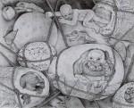 西川光三/NISHIKAWA mitsuzo : 飛をして視 F100 ペン画