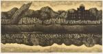 柴田昌一/SHIBATA shoichi : ヒロシマ黙示録(太田川) 52×100 銅版・エッチング・アクアチント