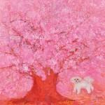 岩渕ケイ子/IWABUCHI keiko : 咲く花の中に 182×184 油彩