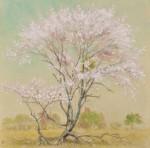 北原宏太郎/KITAHARA kotaro : 野邊櫻 116×114 水彩・和紙