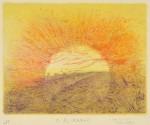 松野登美子/MATSUNO tomiko : 大気(光を求めて) 27×35 銅版
