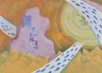 根廻晶/NEMAWARI masa : 彼方へ 162×227.3 油彩