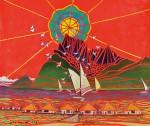 仲村勇/NAKAMURA isamu : ボラボラ島の神 F130 油彩