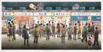 中山岳美/NAKAYAMA takeyoshi : 浅草寺仲見世 28×57 平版