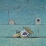 中嶋康評/NAKASHIMA kohei : WIND・FLOWERⅠ (left) 112×112 アクリル