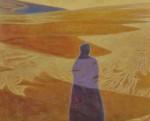 島田 ユキ/SHIMADAyuki:砂丘、風のかたちⅠF100 油彩