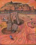 石川 隆雄/ISHIKAWAtakao:モロッコ 世界遺産崩壊(アイト・ベン・ハットゥ) F100 油彩