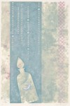 篠崎 純子/SHINOZAKIjunko:花冷え 56×37.5 平版・リトグラフ