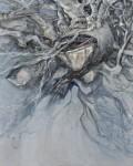 松岡 邦子/MATSUOKAkuniko:伐採2016「樹魂-Ⅱ」 F100 油彩