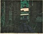 水谷 彰男/MIZUTANIakio:光前寺参門 45×57 木版