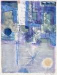 田川 加代子/TAGAWAkayoko:憂鬱な雨の街 85×65 平版