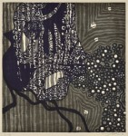 田中 洋子/TANAKAyoko:Poem indigo, 364×60 木版