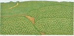 曽根 邦治/SONEkuniji:芽ぶきの時 59.5×105.5 木版