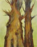 落合 輝美/OCHIAIterumi:大地の樹(望春) F100 油彩