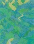 山田 みちゑ/YAMADAmichie:もりをぬけて F100 油彩