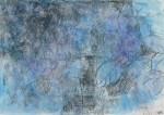 進藤 妙子 / SHINDO taeko : 6月の幻花 あじさい 70×90 アクリル・水彩・木炭