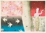 安部 一博 / ABE kazuhiro : 蓮と 43×62 平版