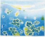 竹内美穂子 / TAKEUCHI mihoko : Autumn train Ⅰ 45×56 平版