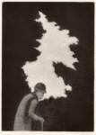 幸田美枝子 / KOTA mieko : 残雪 32×23 銅版・メゾチント