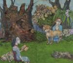 大石洋次郎 / OISHI yojiro : なまえをなくした犬たちの園 194×224 油彩