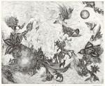 全田紗和子 / ZENDA sawako : 夜明け 36×46.5 銅版