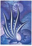 鈴木 誠一 / SUZUKI seiichi : 凪潮の帆 62×43 木版・コラグラフ