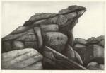 松田 洋子 / MATSUDA yoko : 岩場 36.5×55 銅版