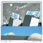アイトヨハネス / EIDT johannes : 海辺の一日 75×57 平版