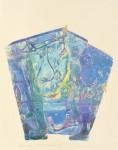 大久保澄子 / OKUBO sumiko : 森への誘いⅦ-青を渡る 75×59 木版・銅版・コラグラフ