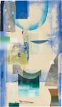 ウチダヨシエ / UCHIDA yoshie : 交響曲Ⅲ 115×66 木版・孔版・ドライポイント
