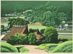 前田 光一 / MAEDA koichi : 里山風景 40×55 木版